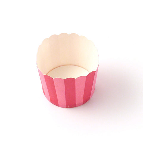 Stripe pink candy cups