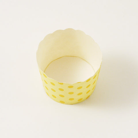 Yellow candy cups