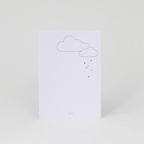 Rainbow hearts cards