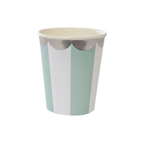 Stripe aqua cups