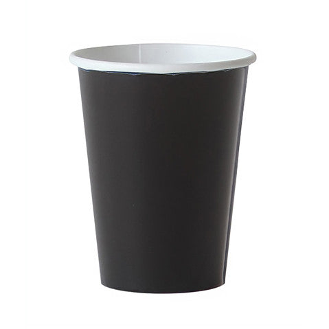 8 black cups