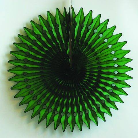 Paper fan 60cm dark green