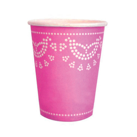 Pink doily cups