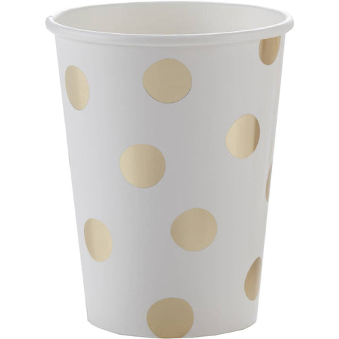 Gold foil dots paper cups