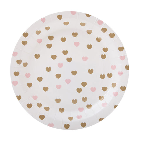 gold-and-pink-heart-paper-plates-sundayslove-assiettes-coeurs-roses-dorés