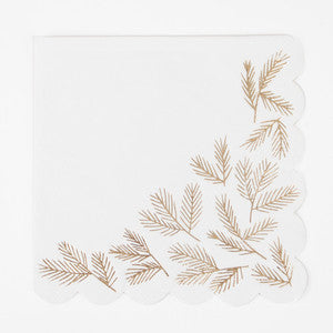 Gold pines napkins