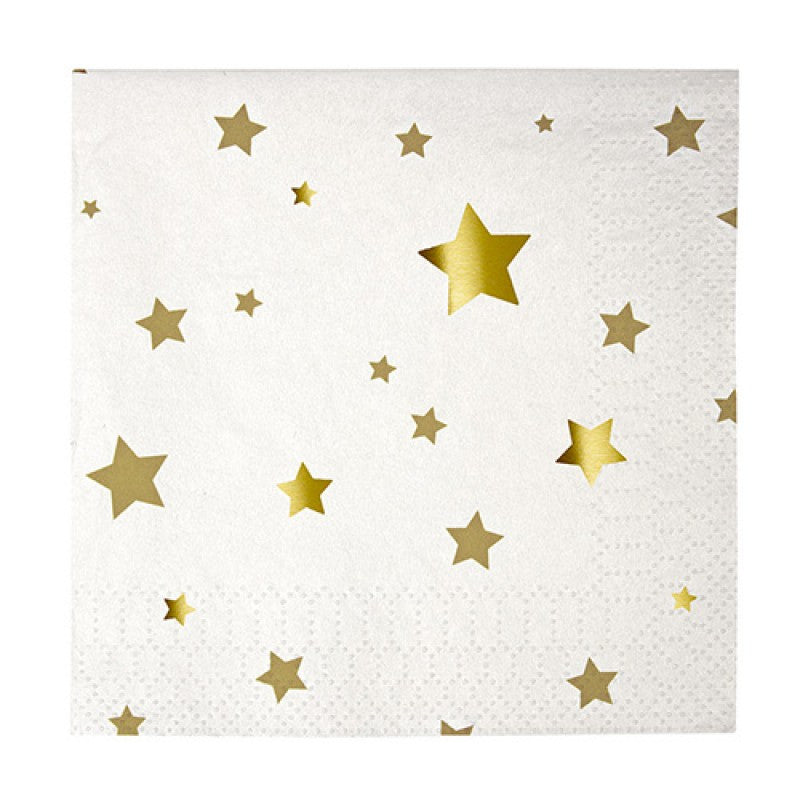 Star napkins gold