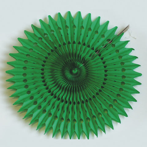 Paper fan 60cm green