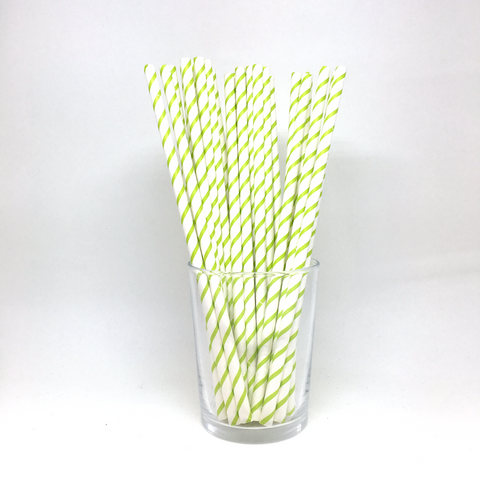 Partylicious Straws - lime green
