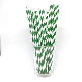 Green stripe straws