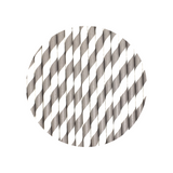 Grey stripe straws