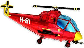 Helicopter Balloon Red