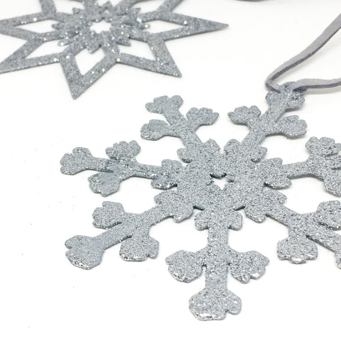 Glitter-snowflake-decoration-frozen-flocons-argentés
