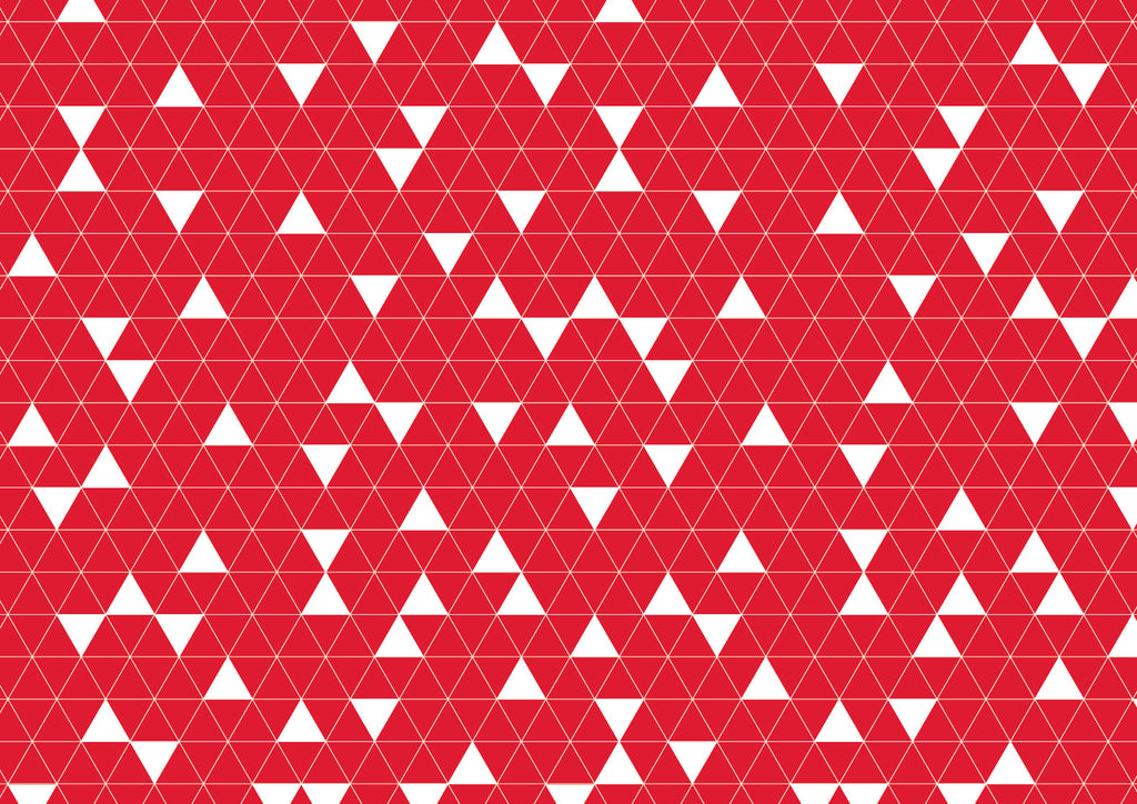Placemats - Red triangles