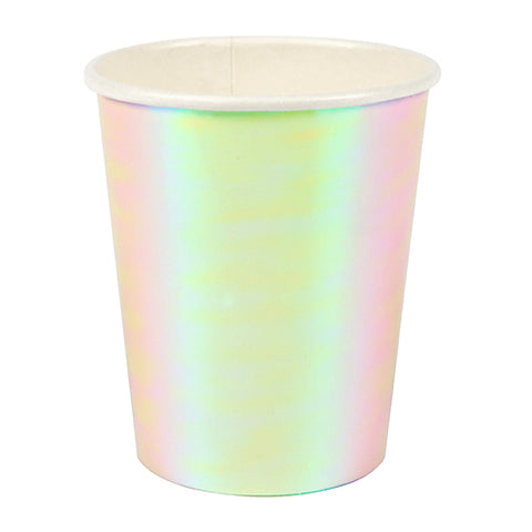 8 iridescent cups