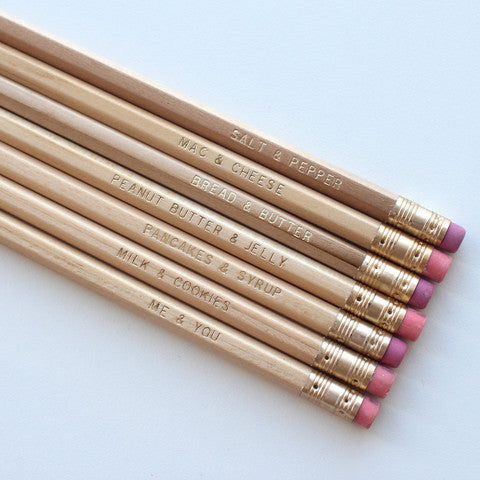 You and me pencils