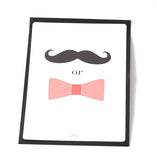 Moustache & bow cards