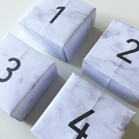 Printable Advent Calendar Boxes_Marble