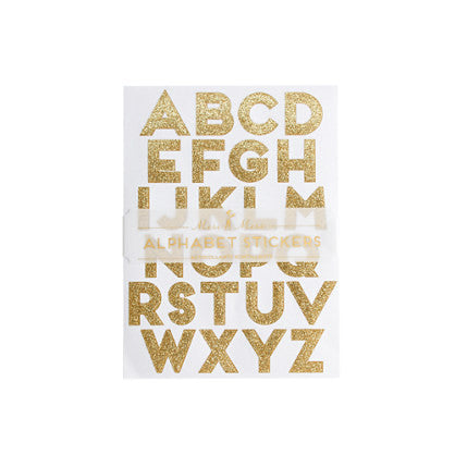 Alphabet gold stickers
