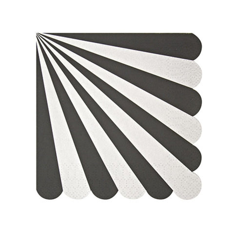 Stripe napkins black