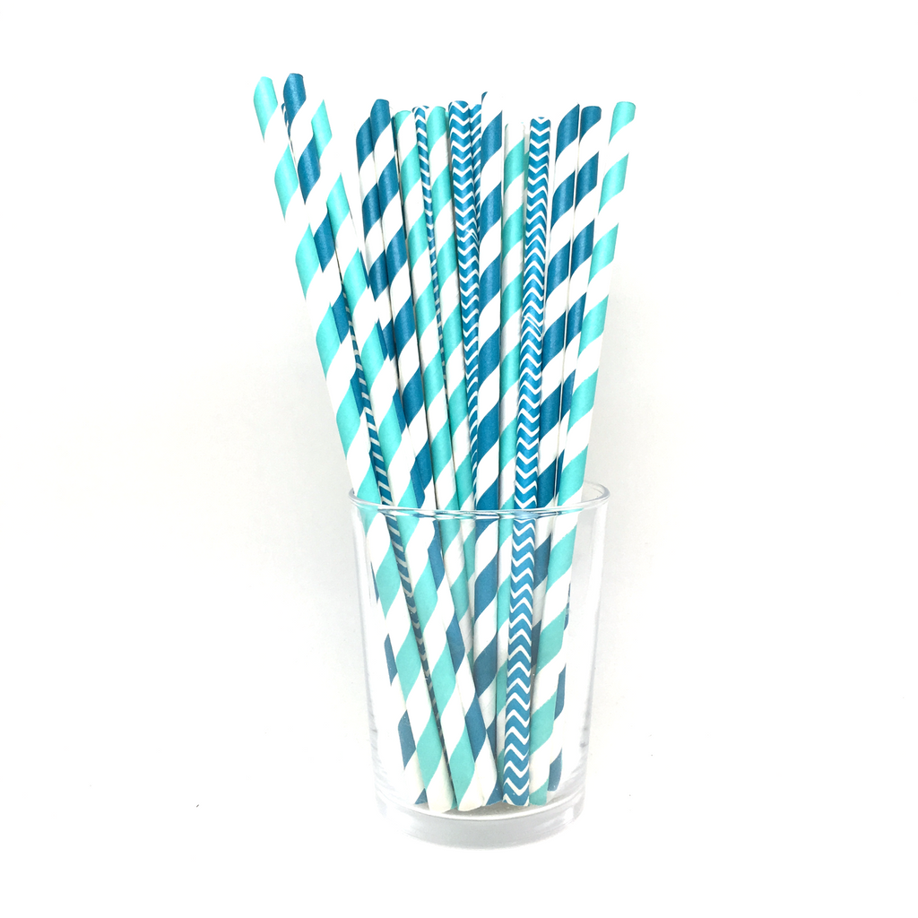 Straws - Mix Blue