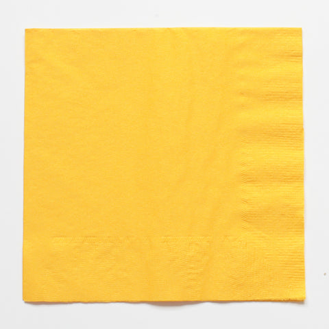 Solid yellow napkins