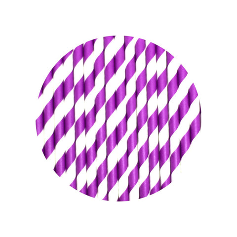 Neon purple straws