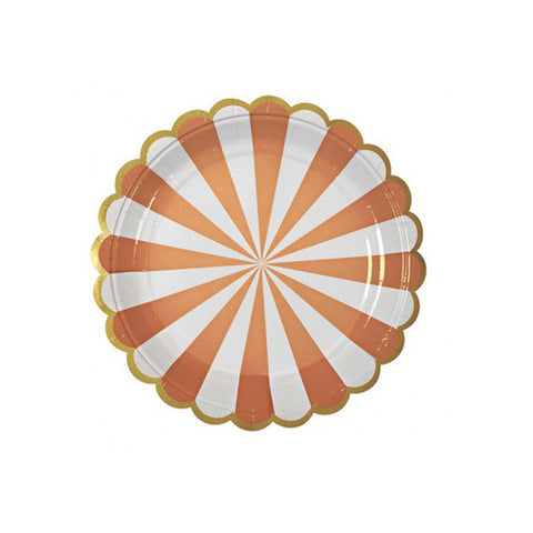 Stripe orange plate (small)