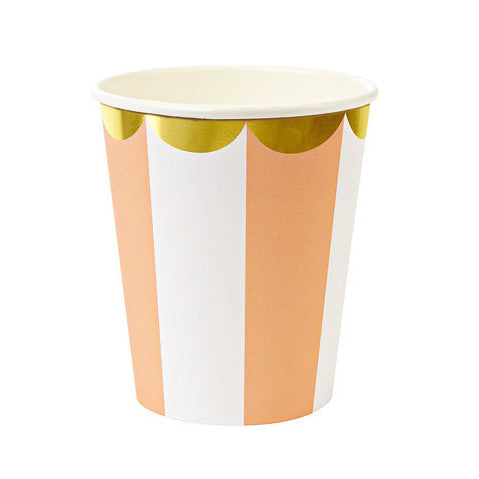 Stripe orange cups