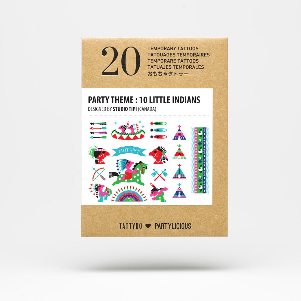 Party tattoos⎟10 LITTLE INDIANS