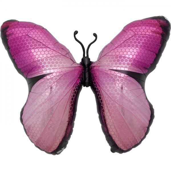 Monarch butterfly balloon pink
