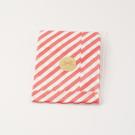 Stripe red party bags