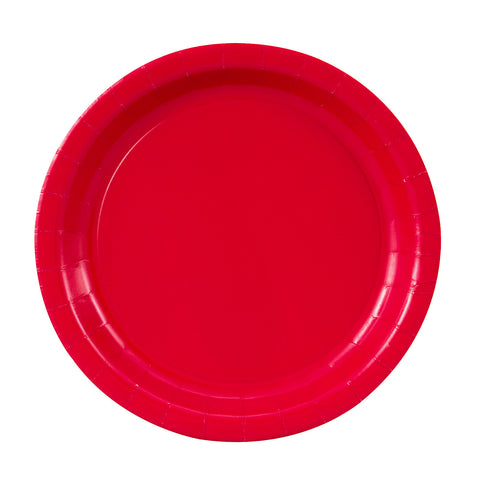 red-paper-plate-assiette-carton-rouge