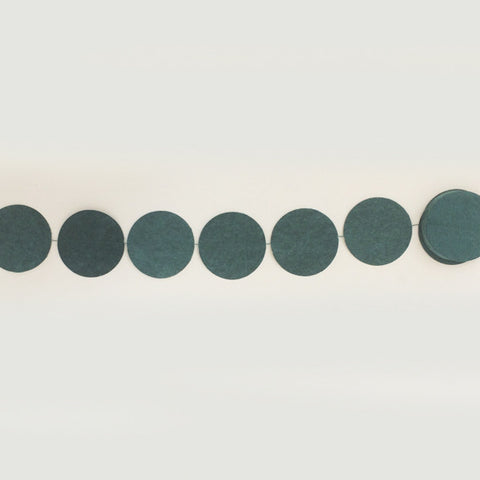 Garland round grey blue