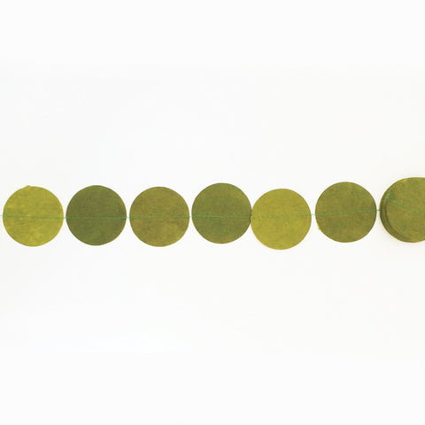 Garland round light green