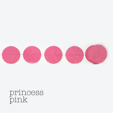 Garland round princess pink