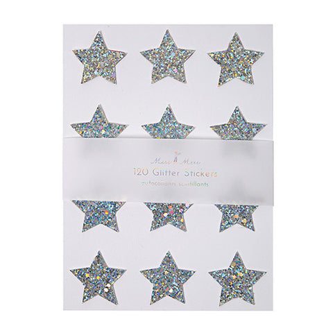 Holographic star stickers