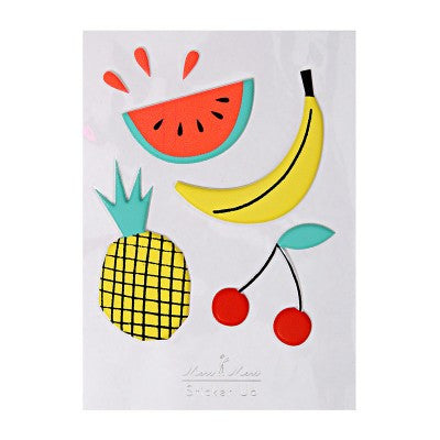 3D fruit stickers