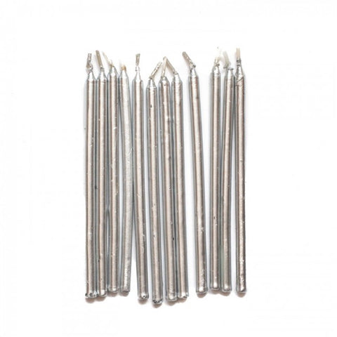 Silver candles (big)