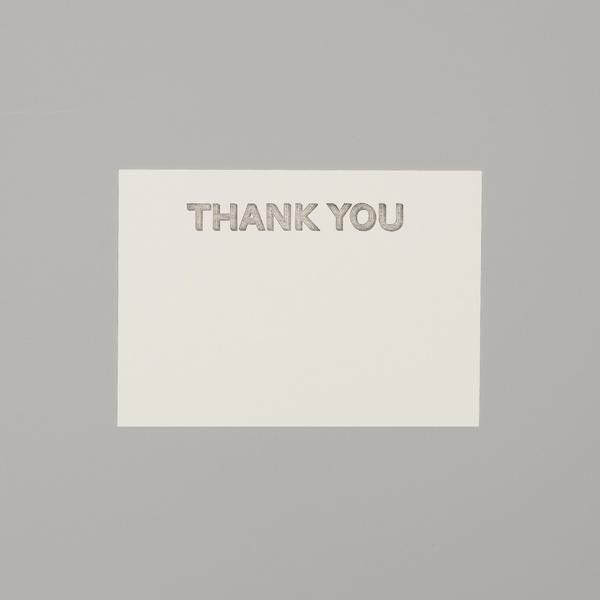 Thank you card letterpress