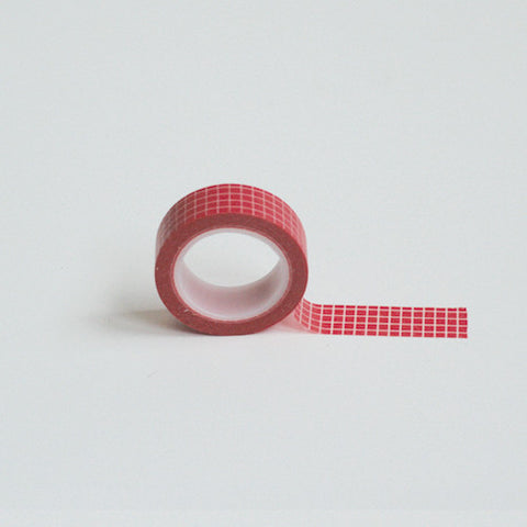 Red square washi tape