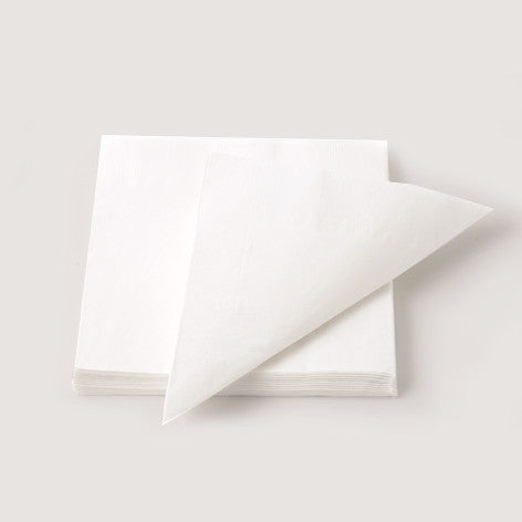 Solid white napkins