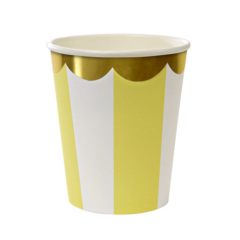 Stripe yellow cups