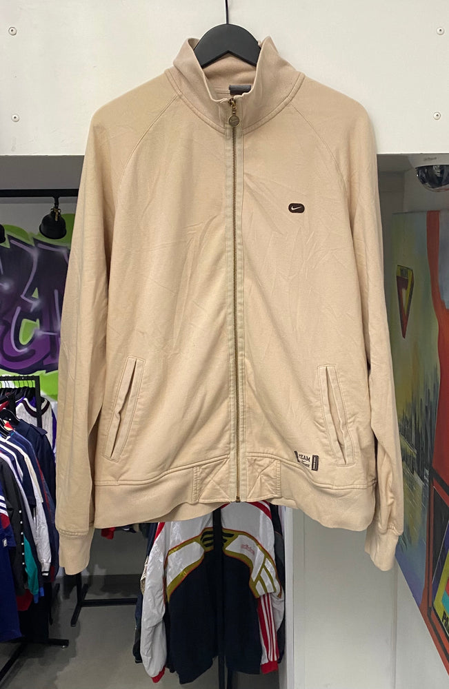 Vintage Nike Oregon Zip Up Sweatshirt Beige XL