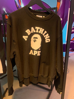 Bape Relaxed Classic College Crewneck (Black)