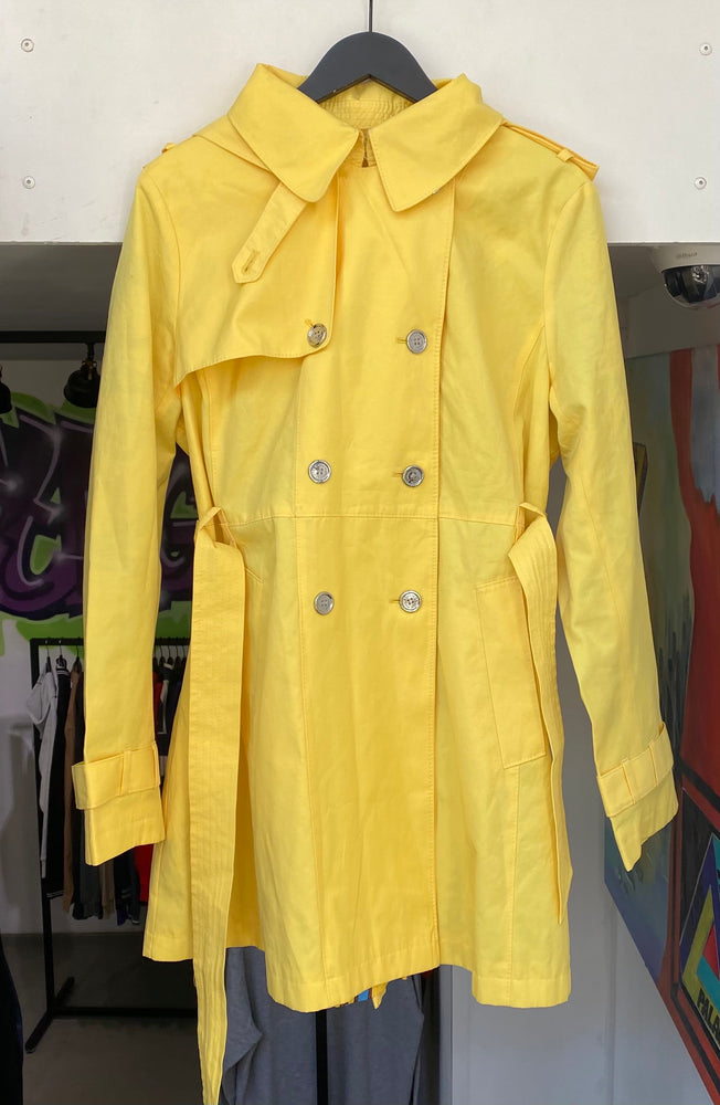 Vintage Yellow Ralph Lauren Trench Coat XL