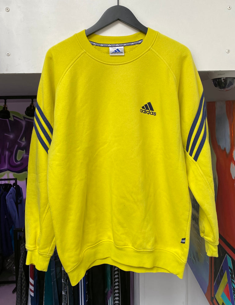 Vintage Adidas Sweatshirt Neon Medium