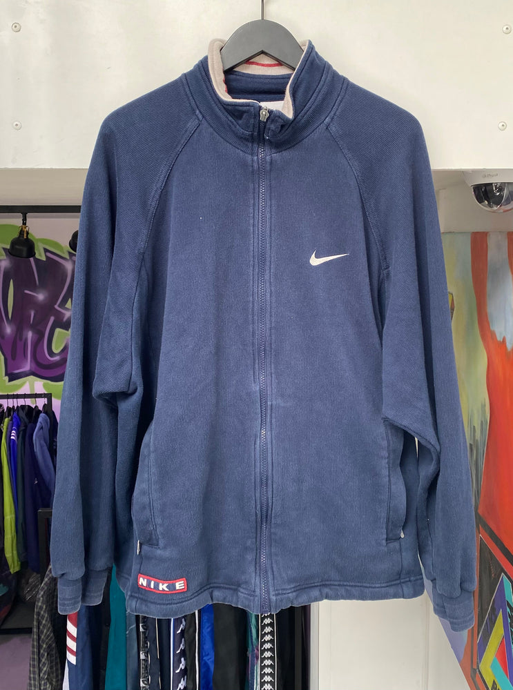 Vintage Nike Zip Up Navy Large