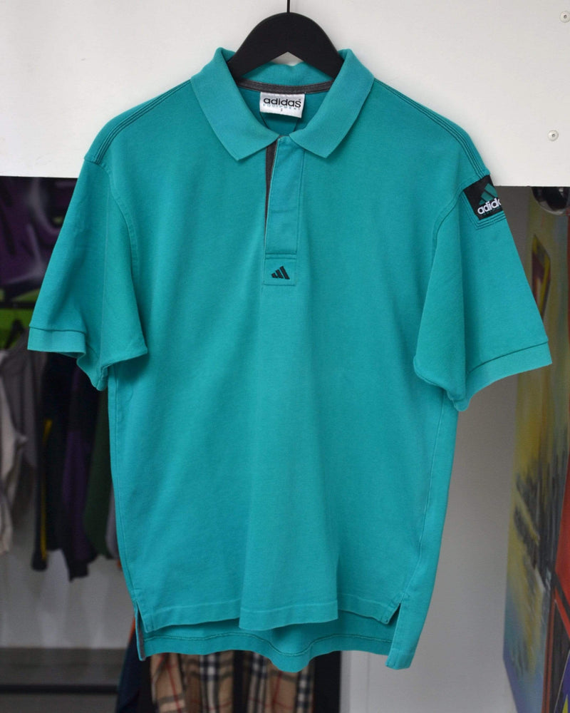 Adidas Equipment Polo Small Vintage Adidas Equipment Aqua Polo