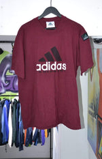 Adidas Equipment T-shirt Vintage Adidas Equipment Burgundy T-Shirt XL